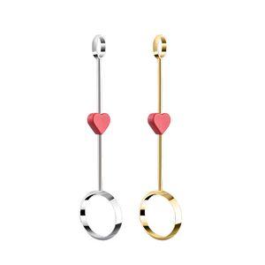 Conjunto de fumadores portátiles Accesorios encantador rojo corazón anillo joyería cigarrillo clip mujer hombre tenedor valentines día smoker regalo 17wk k2