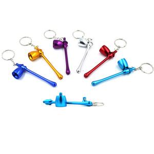 Pipe Métal Portable 6 Couleurs Mode Creative Mini carte Petit tuyau détachable Personality pipe Livraison gratuite BWB2486