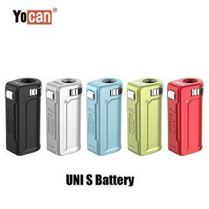 정통 YoCan Uni S 400mAh Box Mod 가변 전압 510 Vape 두꺼운 오일 카트리지에 대한 전압 예열 VV 배터리 정품 DHL