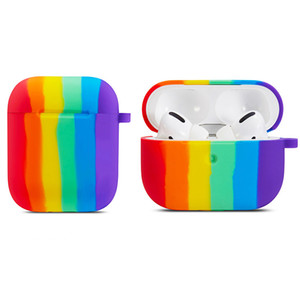 New Design Earphone Cases for AirPods 1 2 Different Colored Silicone Rainbow Fashion Rubber for AirPods Pro Colorful Case
