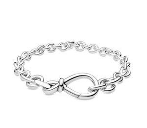 925 Sterling Silver luxury women's jewelry European and American snake chain CLASP bracelet fit Pandora pendant scattered bead DIY making