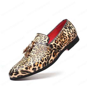 Erkek Ayakkabı Deri loafer'lar Erkekler Elbise Ayakkabı Leopard Kuaför İtalyan Erkekler Günlük Ayakkabılar Zapatos De Hombre De Vestir Biçimsel