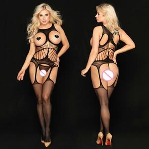 성인 여자 검은 금요일 JSY 섹시한 란제리 여성 페티쉬 열기 가랑이 바디 스타킹 바디 슈트 섹스 의류 속옷