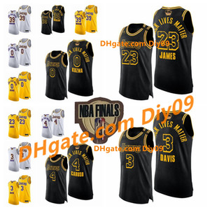 Finale Los Angeleses Black Lebt Matter Lebron 23 James 4 Alexs Carusos Anthony Daviss Howard Kuzma Basketball-Trikots
