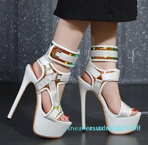 1Hot slae-with box luxury fashion white ultra high heels gladiator women sandals designer shoes come with box size 34 to 40 s09