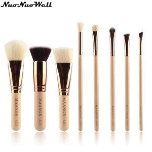 Makeup Brushes 8pcs Blush Foundation Powder Brush Set Professional Wood Handle Cosmetic Tools Big