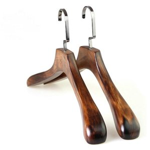 Wood Hangers Adult Wooden Hanger For Clothes Rack Vintage Suit Coat Big Hanger