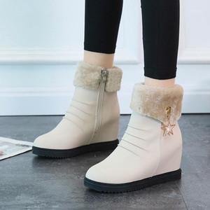 2020 Women Snow Boots Shoes Warm Short Fur Plush Winter Ankle Boots for Women Platform Ladies Shoes Warm Black1