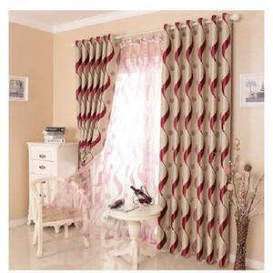 Cortinas de blecautos europeus catiáticos grossos para a sala de estar do quarto do quarto corrugado luminosa cortinas de luxo tule personalizado