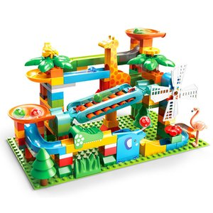 2020 NUEVO PIANO Diapas de mármol Maze Run Run Ball Ball Blocks Set Windmill Toy Parts Compatible x0102