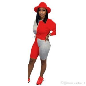 Women Fall Winter Clothing Outfits Hoodies Suit Shorts 2 Piece Sets Tracksuits Capris Pullover Casual suits Panelled Jogger Suit