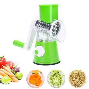 New Roller Vegetable Slicer Cutter Potato Chopper Carrot Grater Detachable 3 Stainless Steel Blade Non-Slip Base Meat Grinder