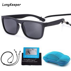 Kinder Sonnenbrillen 2020 Neue Black Friday Kinder Sonnenbrille Junge Mädchen Square Goggles Baby Reisen Gläser mit Case Box Sport Lanyard