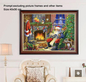 5d Diy Diamond Painting Full Round Christmas Decorations For Home Santa Claus Daimond Painting Accessorie sqcAaB sports2010