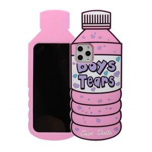 Милый мультфильм мальчики слезы бутылки с водой мягкий силиконовый гель чехол для iPhone 12 11 Pro Max XR XS X 6 7 8 плюс