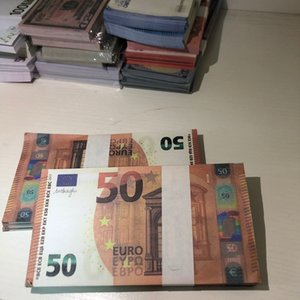 Banknote Atmosphere Prop Euro Hot Toy MV Stage Bar Party LE50-19 50 Shooting Counterfeit Copy Afois Tlkbe