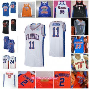 Пользовательская ФлоридаАллигаторы Статистика Баскетбол Джерси NCAA Колледж Keyontae Джонсон Ной Локк Tre Манн Скотти Льюис Эндрю Nembhard Payne Noah