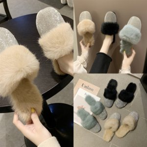 eFhDQ With Slide Rubber designer Track-S high quality Trainers Women Slipper Speed Mule Flip Flop Round Italy Non-slip flat cotton slipper