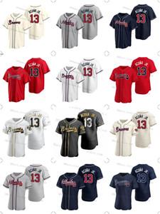 оптовая торговля 13 Ronald Акун Jr. бейсбол Выдерживает трикотажные изделия Blank не назвать ни номера Мужчины Женщины Молодежи Атланта Дешевого Джерси, высокого Qualtiy