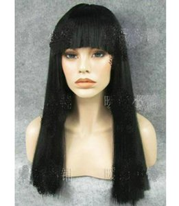 Details Simple Black Front Lace Wig Hair Fashion New Long Straight Cosplay Wig