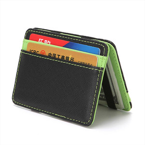 Magic Wallet Men Women Sports Portable Creative Wallet Cross Pattern Color Card Case Card Package Double sided Folding