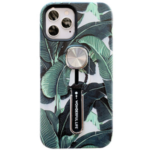 Magnetic Holder Ring leaf Cover for iPhone 12 Pro Max Air Outlet Car Holder Case for iPhone 7 8 plus X XR XS MAX Invisible Bracket