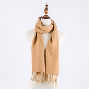 2020Unisex Winter Scarf Cashmere Scarfs Women Men Shawls Scarves With Roll Tube Box