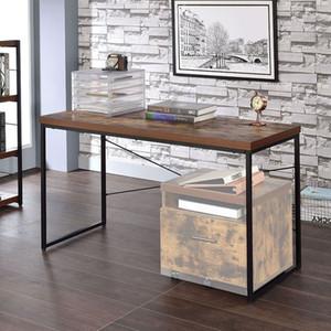 US STOCK Living Room Furniture ACME Bob Desks in Weathered Oak & Black Office Computer desk Fast Delivery