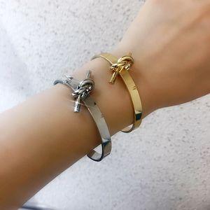 Hot 316 Aço Inoxidável Bangle Luxuoso Designer Jóias Mulheres Braceletes 18k Love Bracelet com Saco Casamento Correntes de Ouro para Homens
