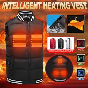 Solid Sleeveless USB Heated Vest Coat Casual Ladies Waistcoat Zipper Slim Jacket Coat Female Autumn Winter Men Womens Outerwear