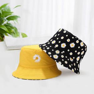 Hot sale Bucket Hat Men Women summer 2020 new Daisy Flower Fashion Cotton Beach Sun Fisherman Caps gorro pescador