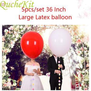 Color balloon pastel Jumbo 5 parts 36 inches; ` helium latex ball ', birthday arc decoration balloon, children's balloon'