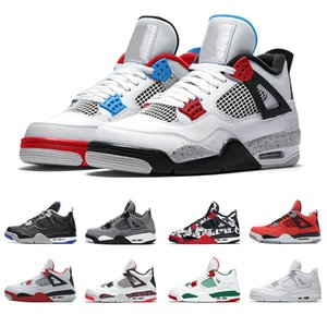 What the 4 Men Basketball Shoes 4s Cool Grey OG Bred For 2020 Singles Day Tattoo Raptors Trainer Athletic Sport Sneakers size 41-47