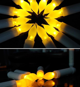 Yellow Mini Battery Operated Led Taper Candles, Flameless Taper Candles For Wedding Decorations,christmas, Thanksgivin jllvAl insyard