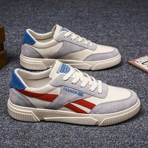 Erkek Moda Rahat Dantel-up Renkli Eğilim Vahşi Tuval Spor Öğrenci Kurulu Ayakkabı Rahat Erkekler Vulkanize Ayakkabı Sneakers