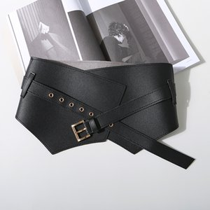 GETSRING Women New Autumn Winter All Match Wide Buckle Woman Fashion Vintage Cummerbunds Waist Belt Corset Leather