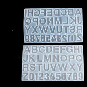 New Small DIY Silicone Resin Mold for Letters Letter Mold Alphabet & Number Silicone Molds Number Alphabet Jewelry Keychain Casting Mold
