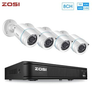 ZOSI 1080P 8CH 4-in-1 CVBS AHD CVI TVI CCTV System DVR 2MP Outdoor Video Nightvision System Surveillance DVR Kit HDD1