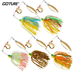 Goture 5pcs / lot 17.5g Spinnerbait Fishing Lure Bass Carp Spinner Bait Metal Blades Silicone Falda Rig Pike Pesca Tackle 201031