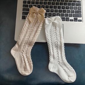 5 Cores Espanha bebê crianças Socks escavar com arco design golpeia 100% algodão menina Socks