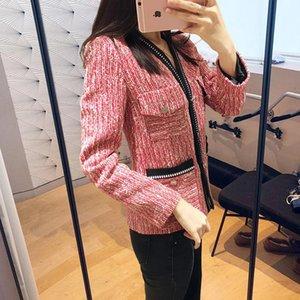 Women's Jackets 2021 Brand Designer Women Coat Fashion Jacket Long Sleeve Workwear Vintage Outwear Female Button Pocket Y217