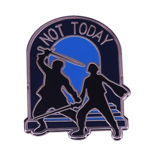 Arya Stark Water Dancing Enamel Pin What do we say to the God of Death? Not Today!