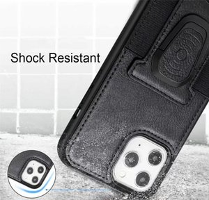 2020 Pu Leather Phone Case Cover With Magnetic Ring Bracket Stand Holder For Iphone 11 12 Pro Max Xs Max X jlloup book2005