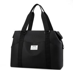 Travel Bags WaterProof Nylon Large Capacity Hand Shoulder Bags Fashion Women Weekend Duffle Bag Handbags Training Sport Black1
