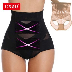 CXZD High Waist Control Panties Body Shaper Shapewear Thong for Women Tummy Control Butt Lifter Slimming Invisible