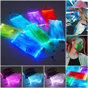 Hoşgeldin Dropship! PM2.5 ile LED Aydınlık Maske Filtre Renkli Yüz Maskesi Ücretsiz Değişim Güvenlik 7 Renkler Parlayan LED Yüz Maskeleri Parti Maskesi