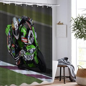 Racing Car Motorcycle Shower Curtain 3D Print Waterproof Aircraft Surf Extreme Sport Shower Curtain Washable Bathroom