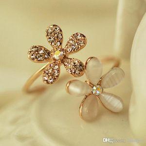 Hochzeit Ringe Gold Daisy Strass Frauen-Ring