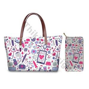 Cartoon Tools Design Ladies Hand Bags New Fashion Cute Caual Handbags Purses Set Large Capacity Beachbags For Custom