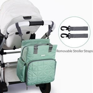 INSULAR Fashion Diaper Bags Backpack Baby Dad Mommy Nappy Nursing Bag Waterproof Support Machine Wash Baby Care Stroller Travel 200930